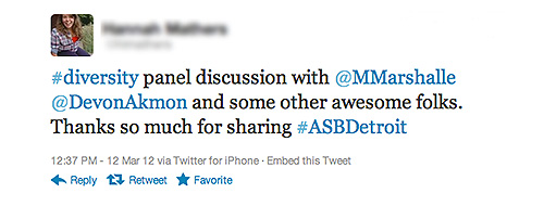 A Tweet from an ASBD participant