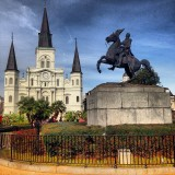 St. Louis Cathedral from Jackson Square in New Orleans.