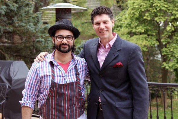 Devon Akmon and Chef Sameh Wadi