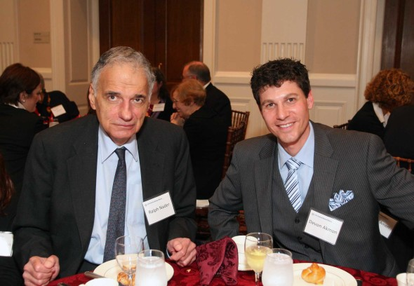 Devon Akmon with Ralph Nader