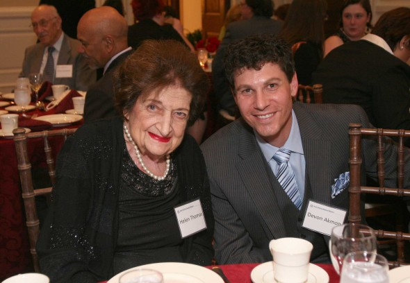 Devon Akmon with Helen Thomas